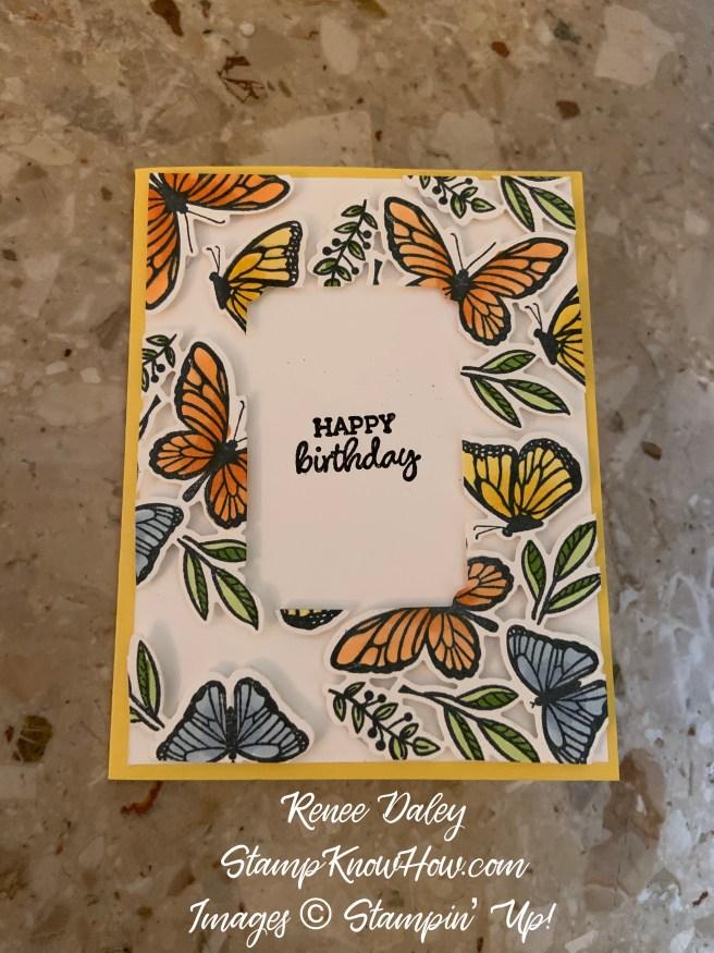 Floating Frame Birthday card image