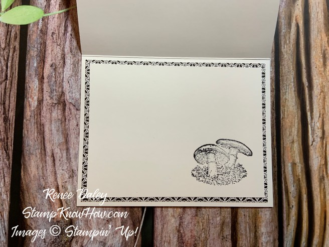 Inside image of the Etched in Nature Thank You Card