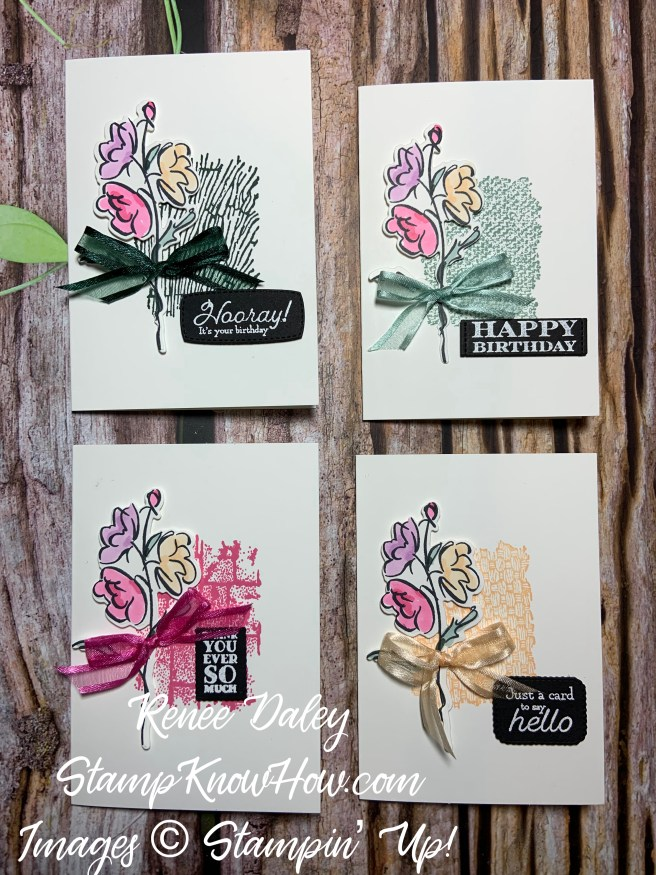 In Color Notecard Set Image with Stampin' Up Color & Contour