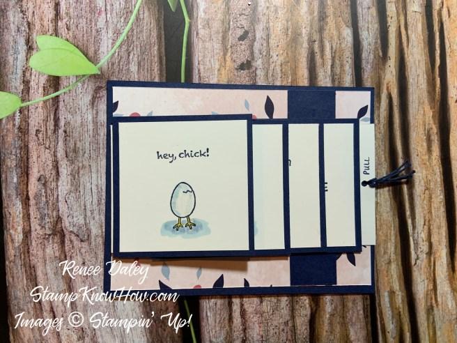 Hey Chick Waterfall Card