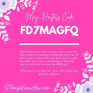 Stampknowhow hostess code image for May 2021