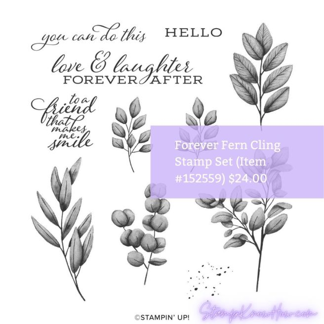 Image of Forever Fern Cling Stamp Set by Stampin' Up!