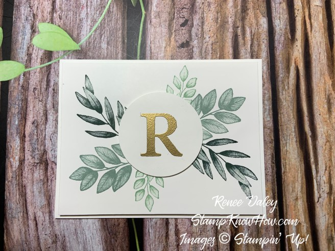 Image of Forever Fern Initial Notecard
