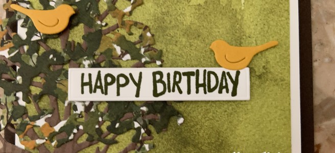 Beauty of the Earth Suite: Make a masculine Birthday Card