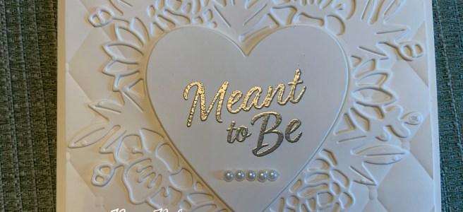 Floral Heart Dies Wedding Card