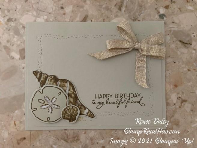 Friends are like seashells birthday card