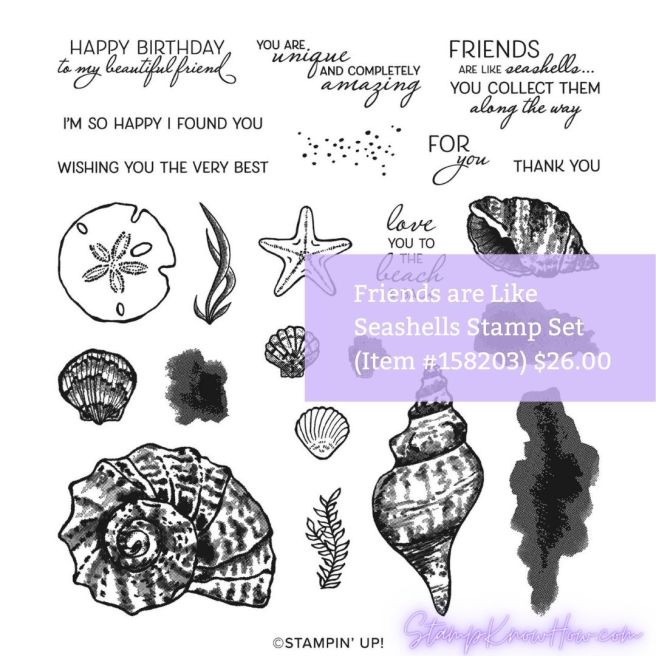 Friends are like seashells stamp set by Stampin' Up image