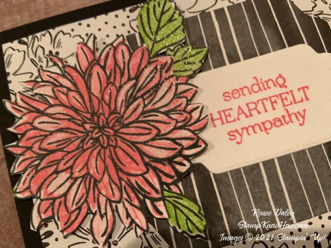 Delicate Dahlias Sympathy Card