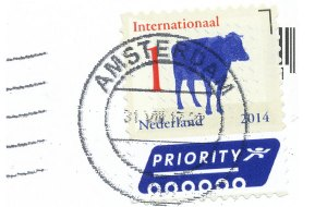 2014 stamp of a cow- Netherlands