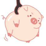 Adorable Chubby Pink Pig in Busy Tasks