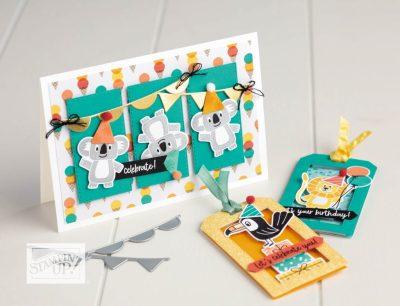 Stampin Up! Birthday Bonanza Suite, Birthday Cards, Monthly Card Class, StampMeCrafty.com