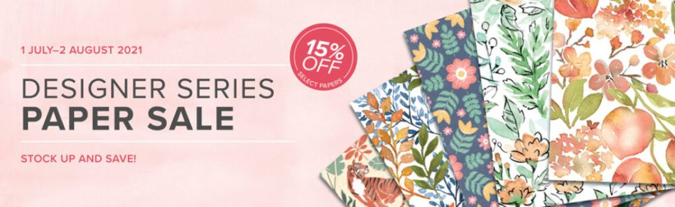 designer series paper sale, stampin' up!, Save 15%