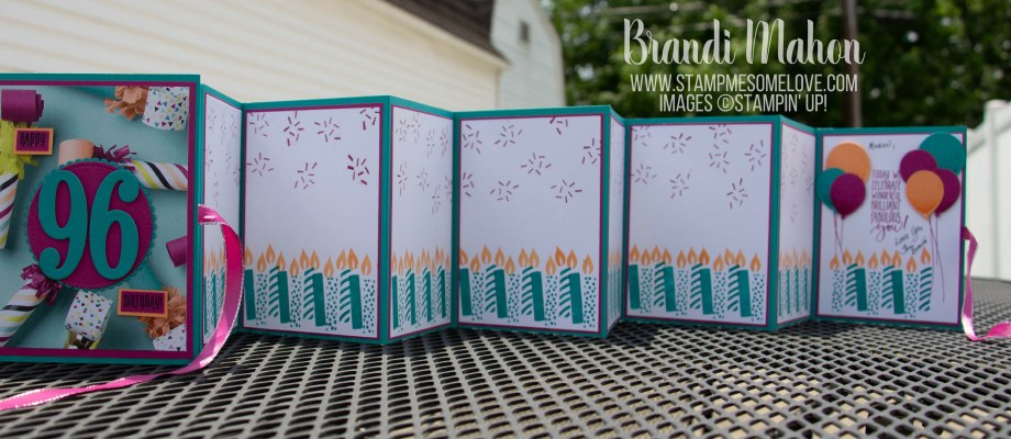 Create an accordion style card with 96 candles Part 1 of 4
