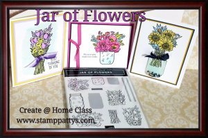 June 2020 Class to Go – Jar of Flowers