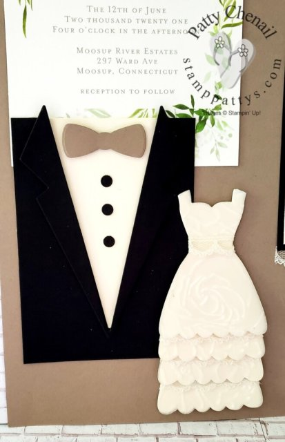 Using the Stampin' Up! Embossing and Die Cutting Machine, and the Handsomely Suited dies, I was able to create this fabulous wall art as a special gift for a wedding I attending this past weekend!