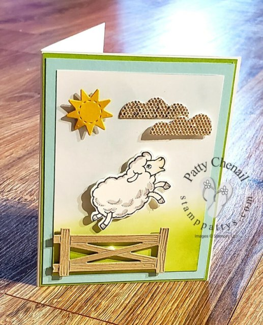 Counting Sheep and the coordinating Sheep Dies were used to create today's project!  These are available as FREE items during August and September 2021 during Sale-a-Bration! Details for this project are available on my blog here: