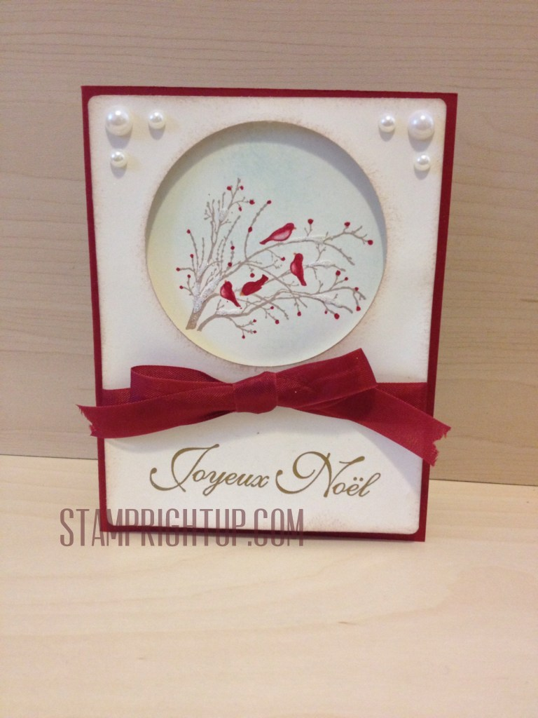 Stampin Up Serene Silhouettes Christmas Workshop Card