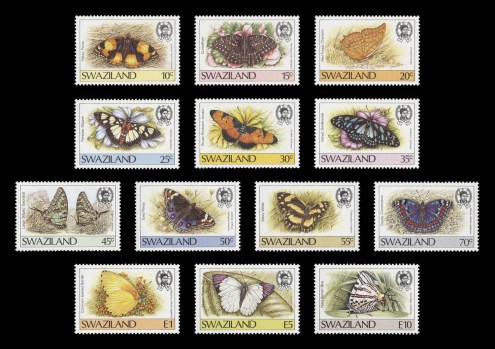 1987 Butterflies definitive series