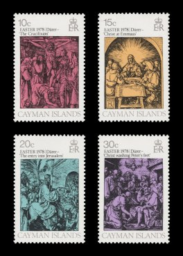 Easter set of four stamps