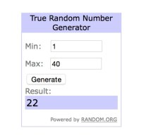 Random Number Screen shot for 26 Mar Blog Candy winner