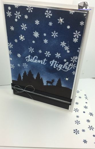 Silent Night card and envelope watermarked