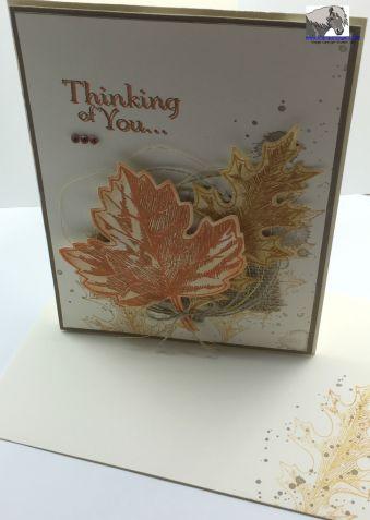 Vintage Leaves Sorrow Card and Envelope watermarked