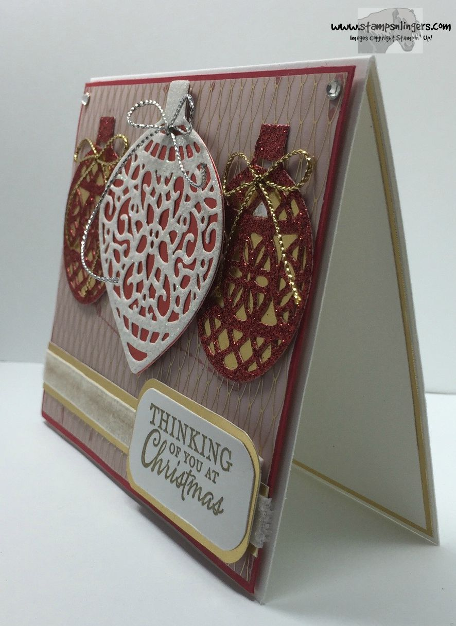 Stampin Up Embellished And Delicate Ornaments For