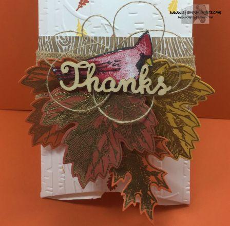 Joyful Season Vintage Leaves Pillow Box 2