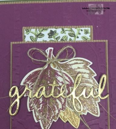 Vintage Leaves Seasonal Frame 2 - Stamps-N-Lingers