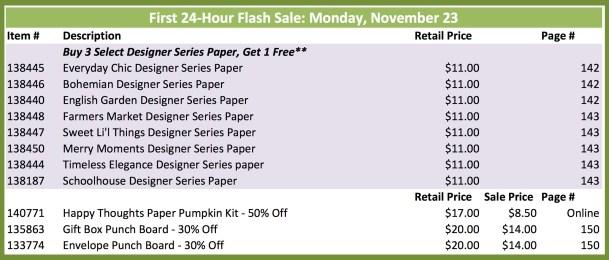 23 Nov Flash Sale