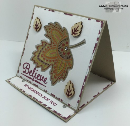 Lighthearted Leaves Glow Card 3 - Stamps-N-Lingers