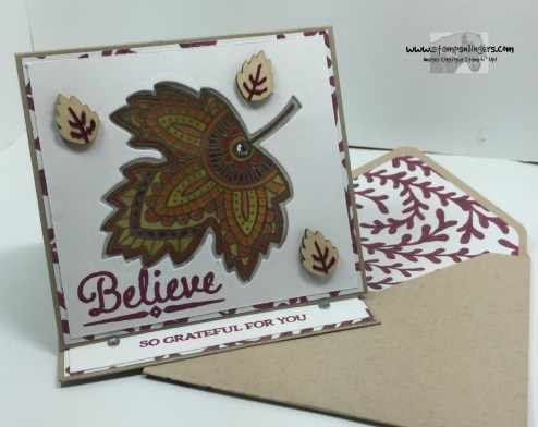 Lighthearted Leaves Glow Card 5 - Stamps-N-Lingers