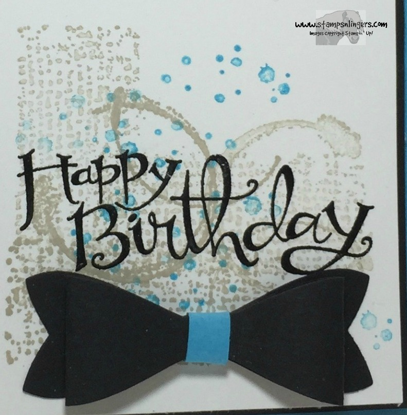 stampin up sassy happy birthday bow tie stamps n lingers