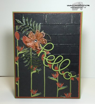 Botanical Hello 1 - Stamps-N-Lingers