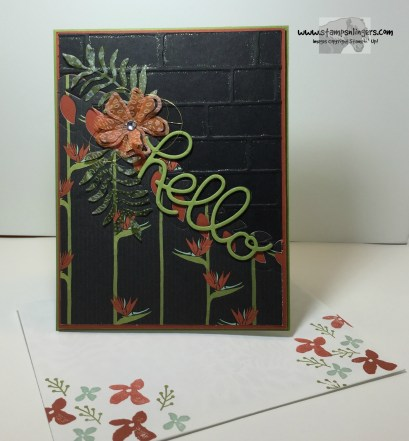 Botanical Hello 6 - Stamps-N-Lingers