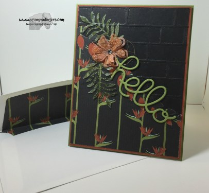 Botanical Hello 7 - Stamps-N-Lingers