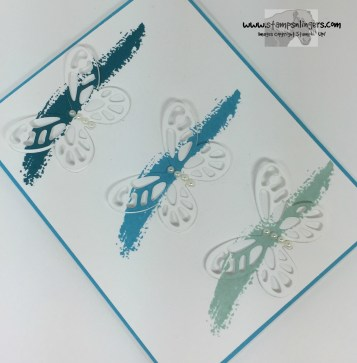 Blue Bold Butterflies 4 - Stamps-N-Lingers
