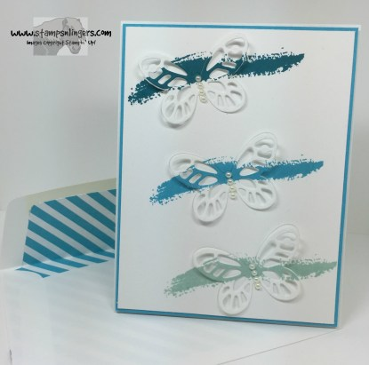 Blue Bold Butterflies 7 - Stamps-N-Lingers