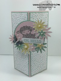 Honeycomb Hello Lamb Fun Fold 1 - Stamps-N-Lingers