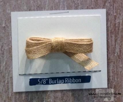 58 Burlap Ribbon - Stamps-N-Lingers