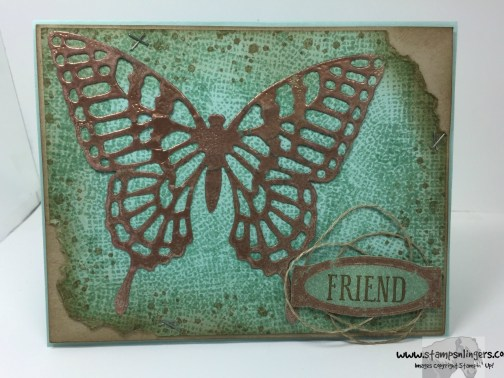 Awesomely Artistic Copper Butterfly 2 - Stamps-N-Lingers