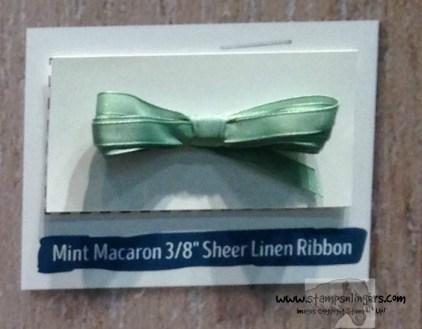 Mint Macaron 38 Sheer Linen Ribbon - Stamps-N-Lingers
