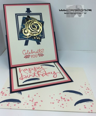 Painters Palette Easel Card 6 - Stamps-N-Lingers