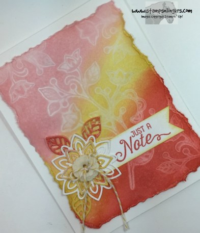 Watercolored Flourishing Phrases Note 4 - Stamps-N-Lingers