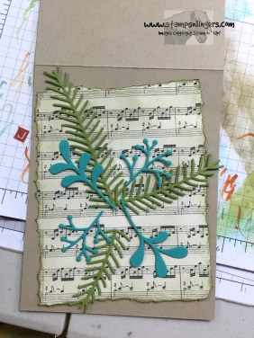 Wonder of Christmas Pines in progress 1 - Stamps-N-Lingers