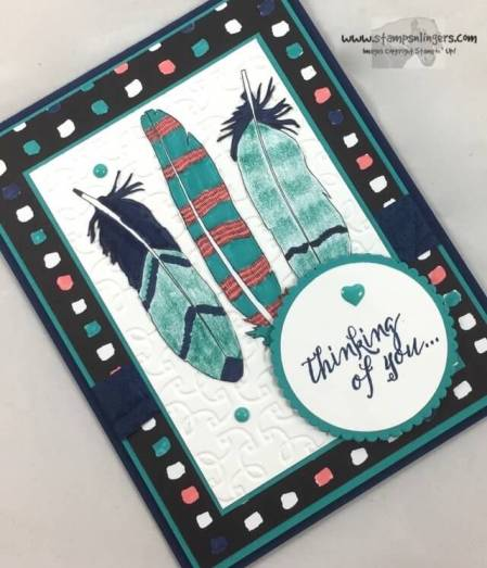 Just Add Color Feather Together - Stamps-N-Lingers 4