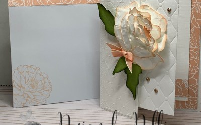 Stampin' Up! Prized Peony Fun Fold 3-D card