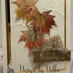 Technique Tuesday – #26 Chalked leaves