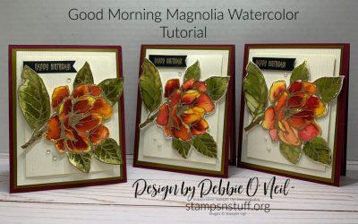 Good Morning Magnolia – Watercolor Tutorial – Stampin' Up!