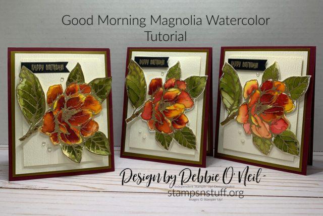 Good Morning Magnolia watercolor tutorial